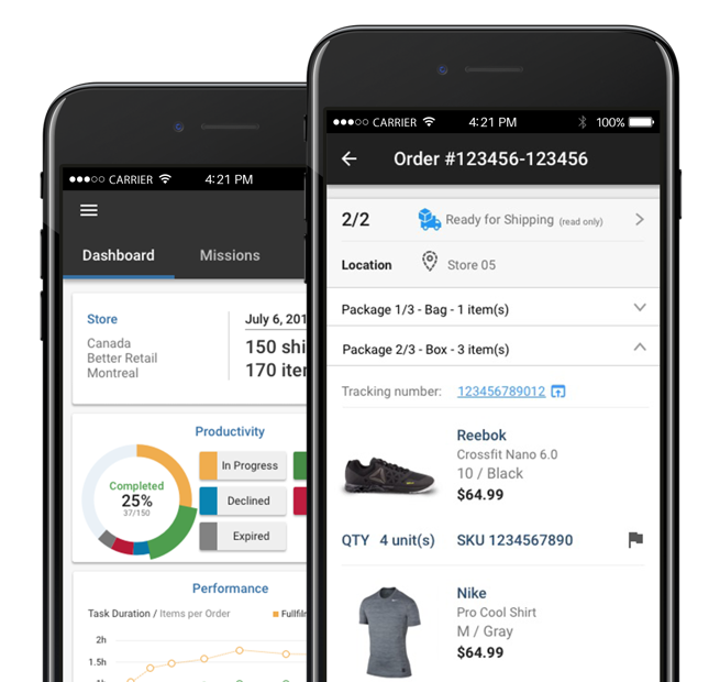 Mobile Store Fulfillment application