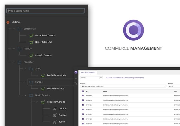 Commerce Management application