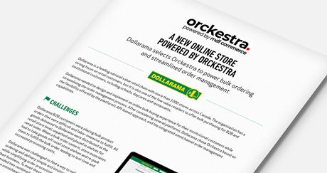 Dollarama : A new online store powered by Orckestra