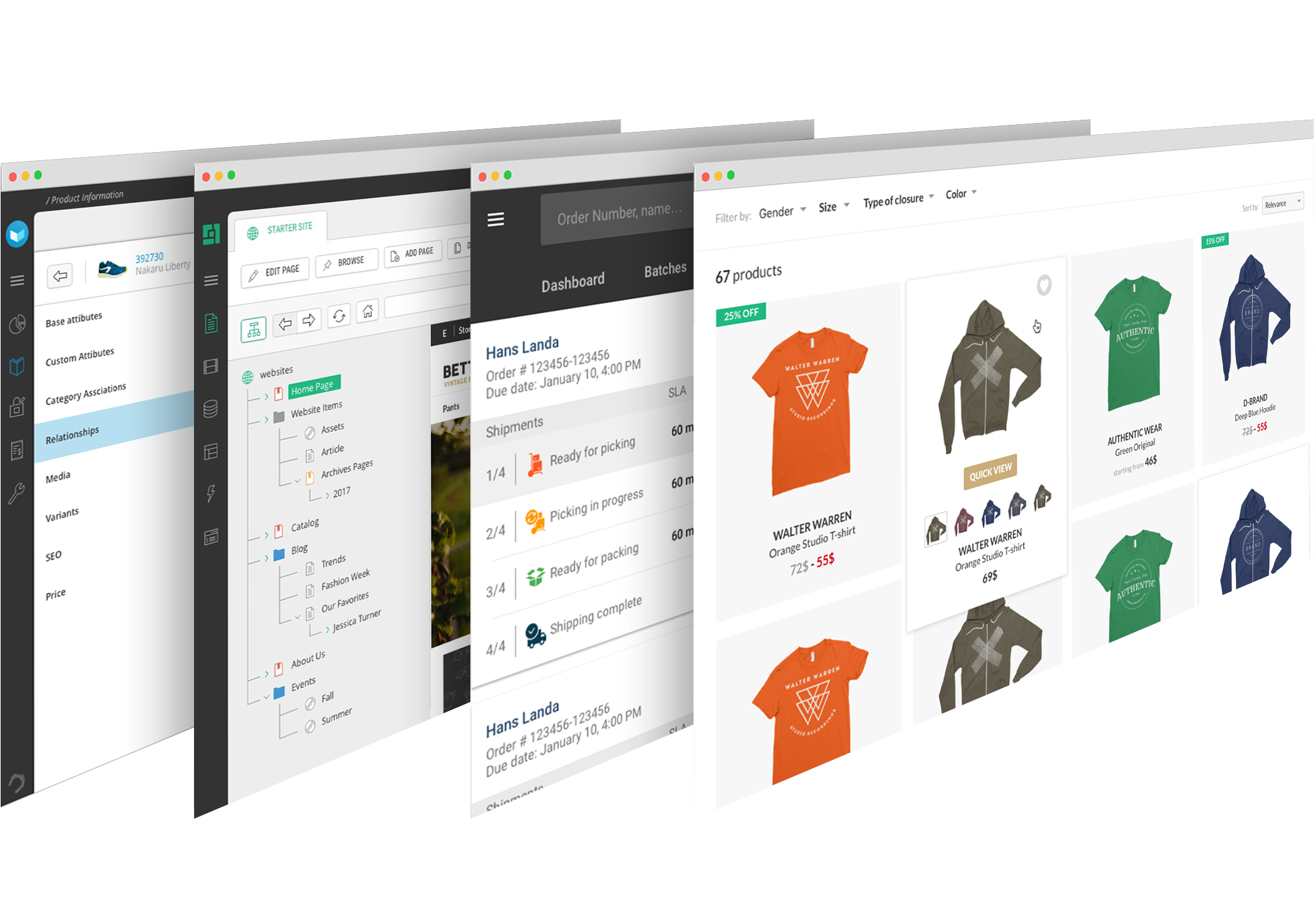 Product Merchandising, DCXM, Mobile Fulfillment and Reference Storefront